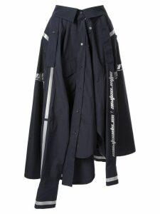 Juun.J shirt midi skirt - Blue