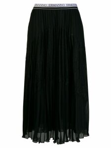 Ermanno Scervino pleated midi skirt - Black
