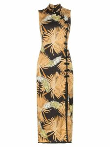 De La Vali Jean palm print dress - Black