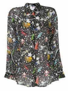 Ultràchic star print shirt - Black