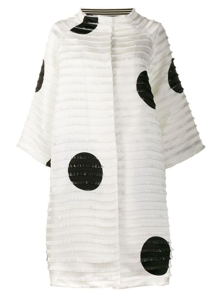 Gianluca Capannolo fringed oversized coat - White