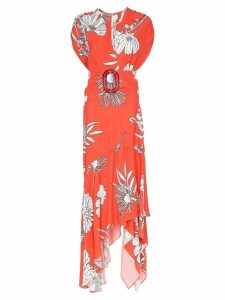 Silvia Tcherassi Josephine floral print maxi-dress - Red