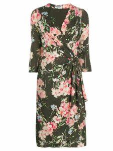 Essentiel Antwerp floral print wrap dress - Green