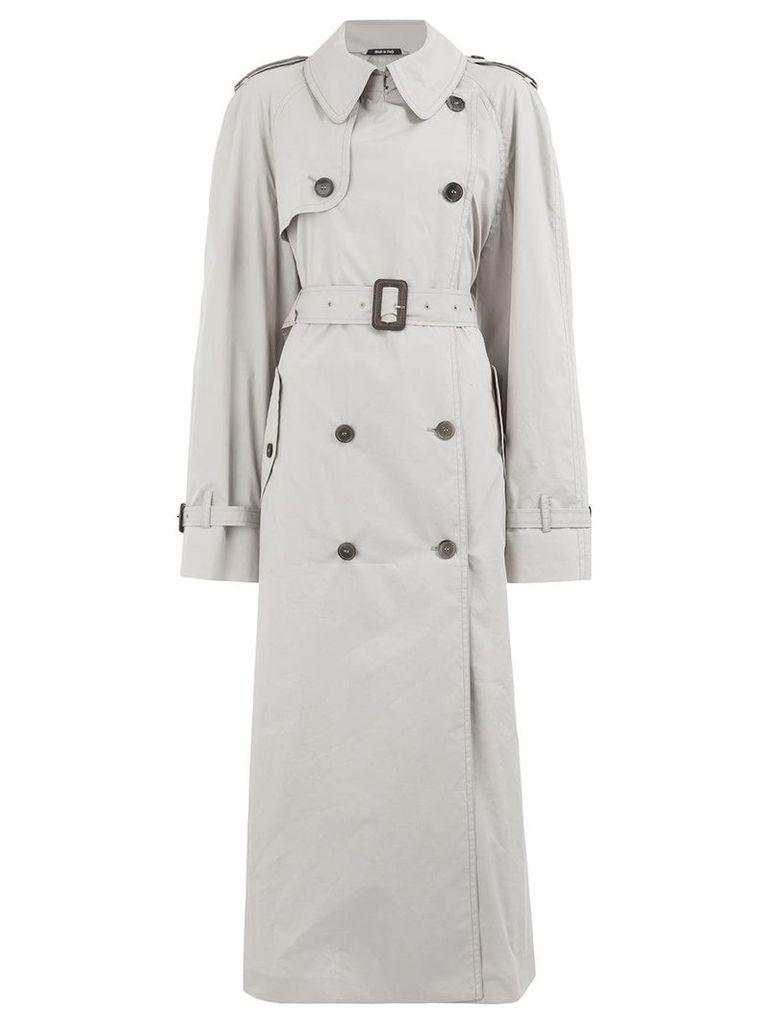 Maison Margiela long trench coat - Grey