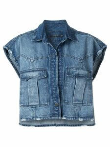 Pony Stone denim waistcoat - Blue