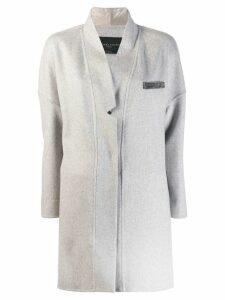 Fabiana Filippi embellished pocket coat - Grey