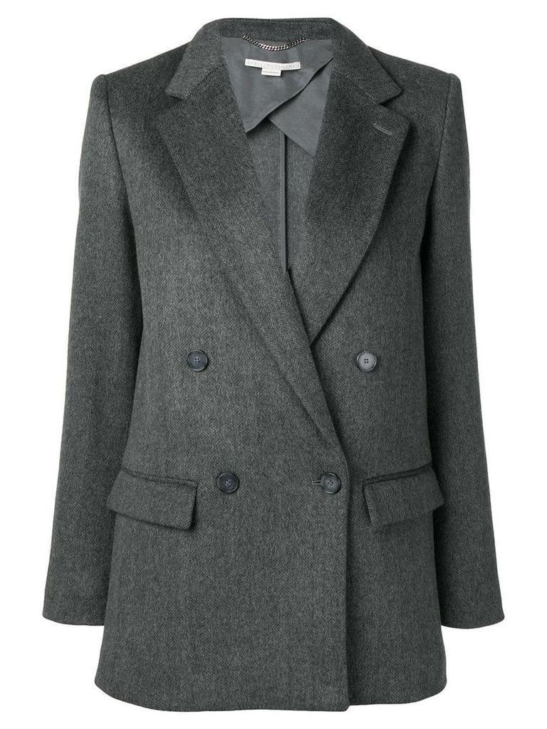 Stella McCartney notched lapel blazer jacket - Grey