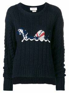 Thom Browne Hector Sequin Boxy Pullover - Blue