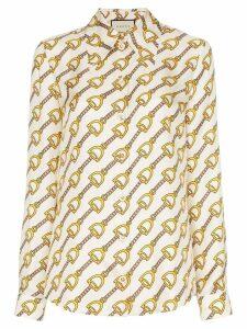 Gucci Stirrups print blouse - White