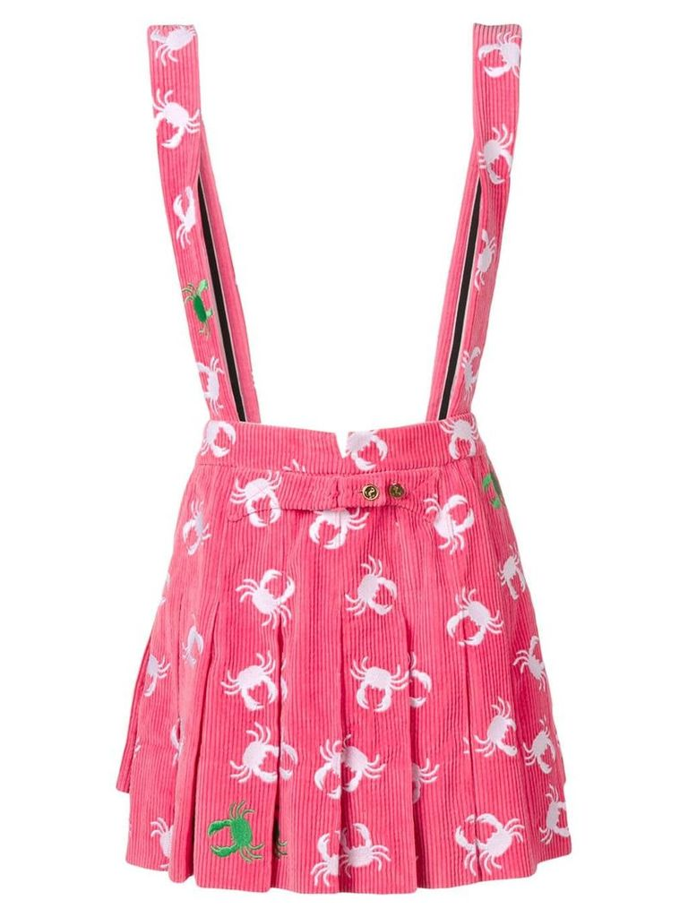 Thom Browne Crab Embroidery Backwards Skirt - Pink