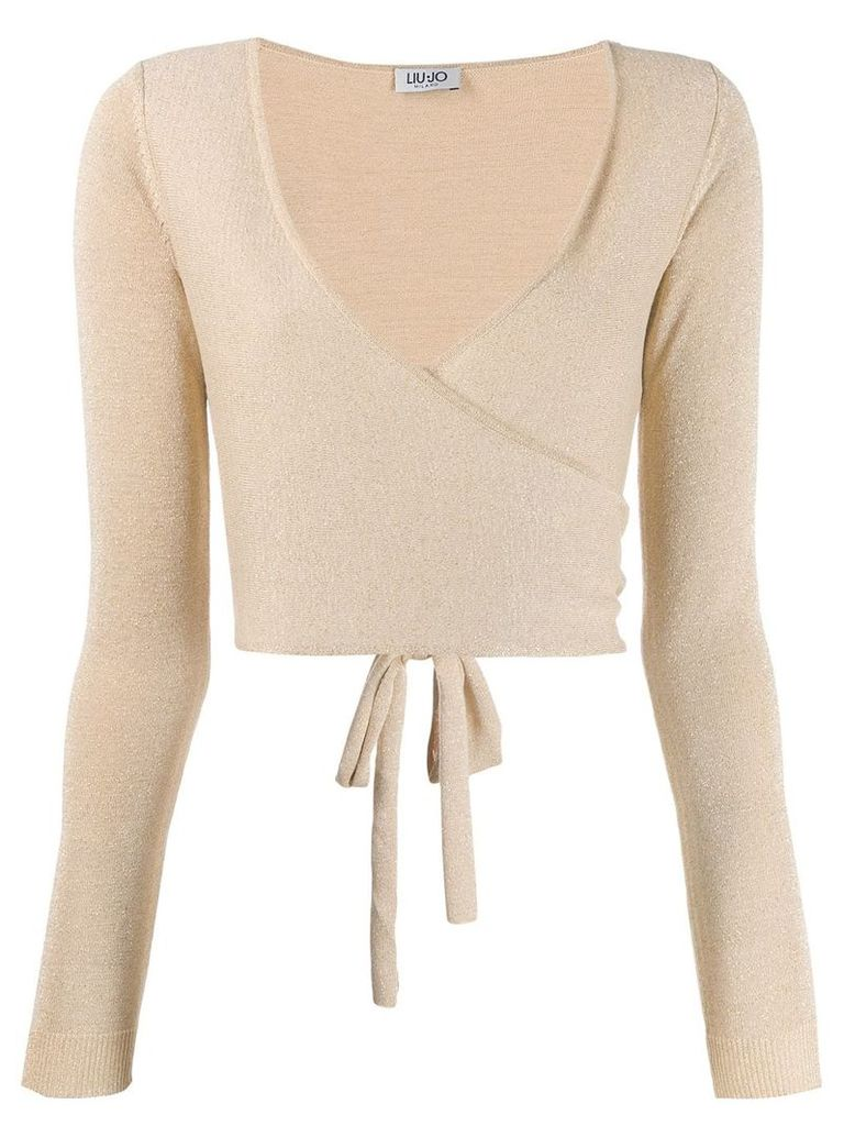 Liu Jo wrap cardigan - Gold