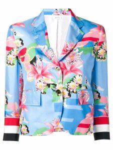 Thom Browne Supersized Grosgrain Floral Sport Coat - Blue