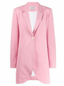 Loewe single-breasted blazer - Pink