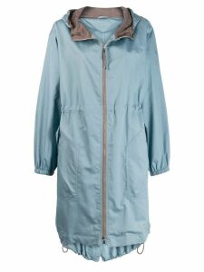Brunello Cucinelli hooded parka coat - Blue
