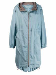 Brunello Cucinelli hooded parka coat - Blue