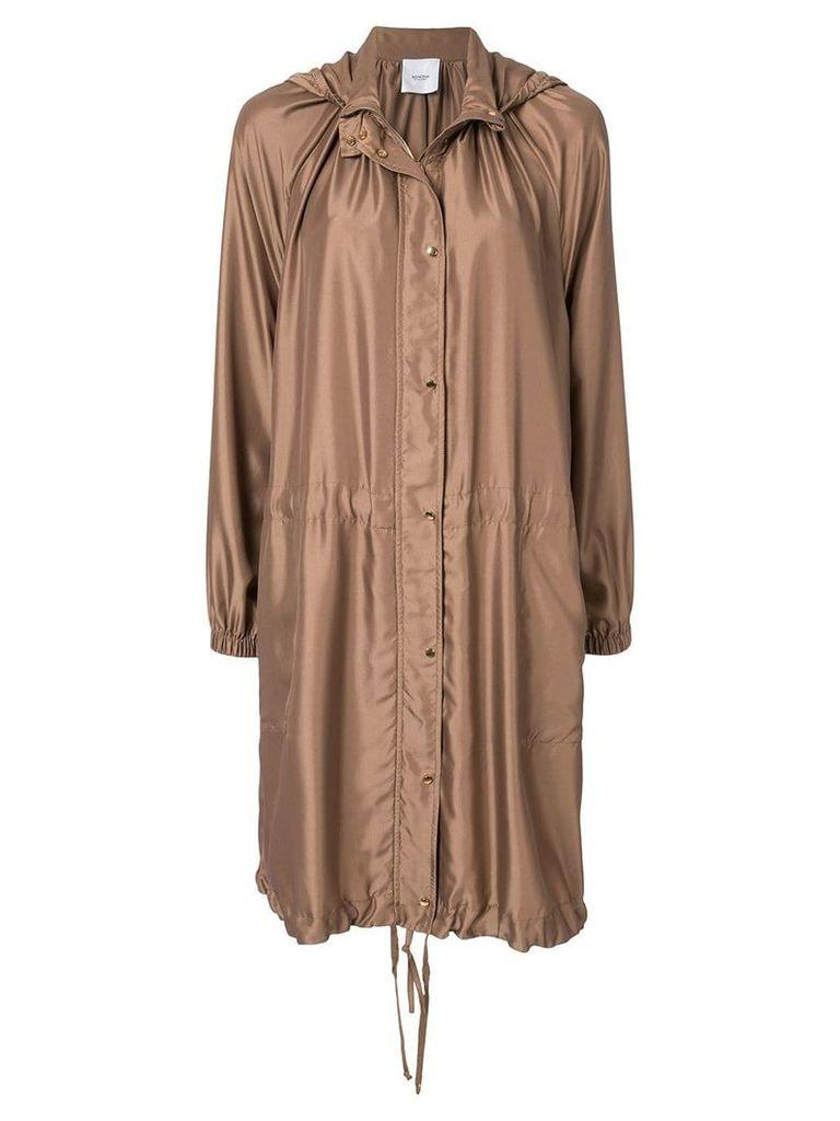 Agnona Caban coat - Brown