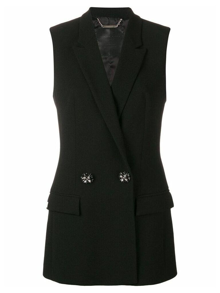 Philipp Plein double breasted waistcoat - Black