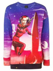 Pinko Space Program printed sweatshirt - Blue