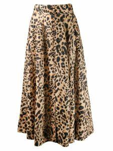Zimmermann leopard print skirt - Neutrals