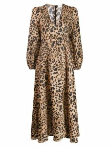 Zimmermann leopard print dress - Neutrals