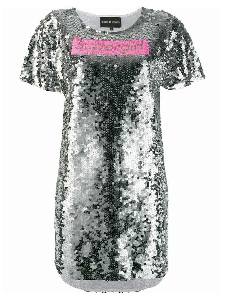 Mua Mua Supergirl dress - Silver