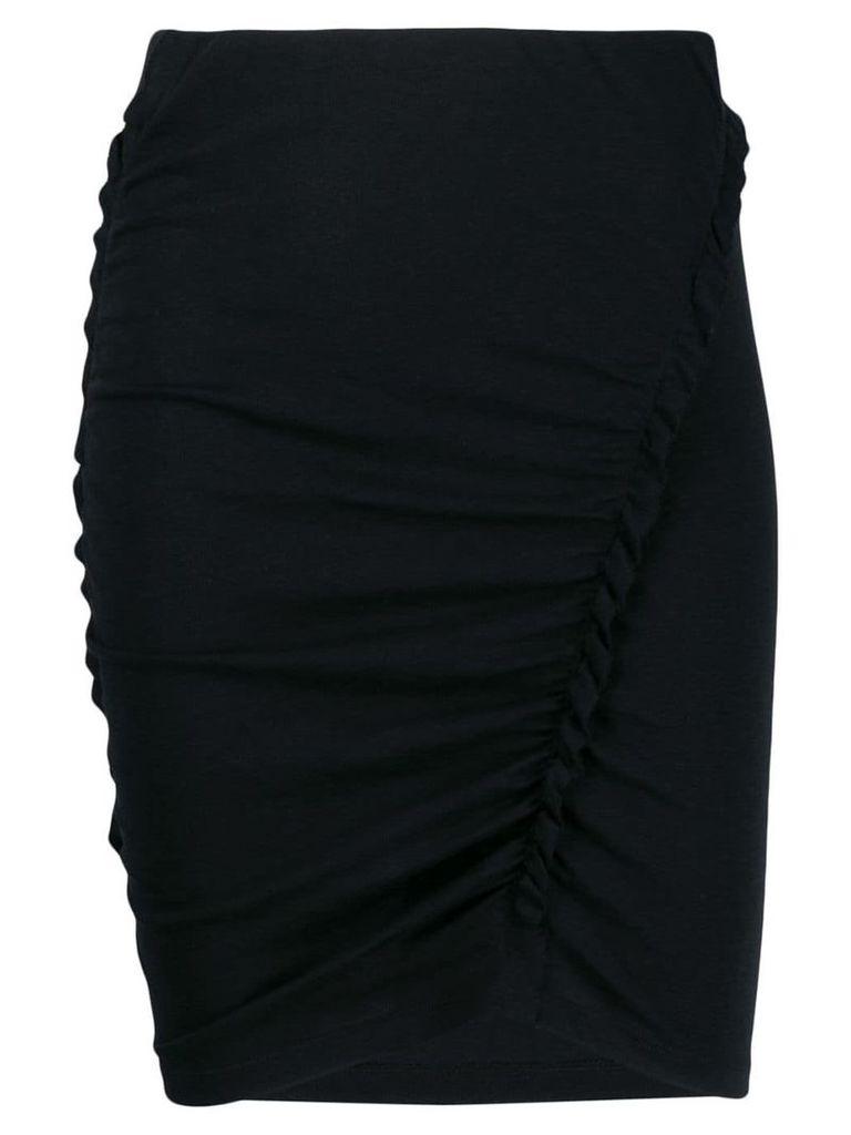 Iro ruffle trimming pencil skirt - Black