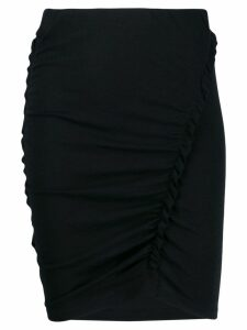 Iro ruffle trimming pencil skirt - Black