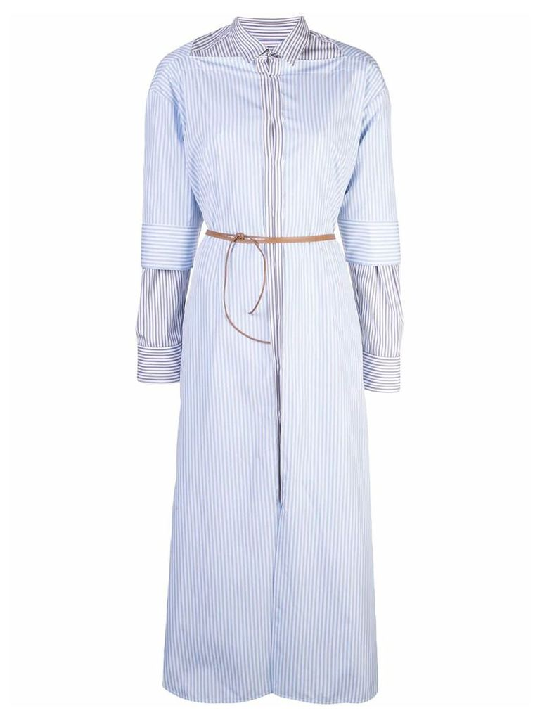 Marni layered shirt dress - Blue