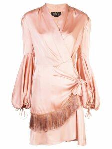 Patbo wrap front dress - Orange