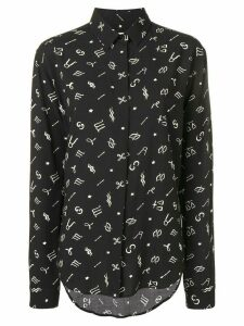 Saint Laurent horoscope print shirt - Black