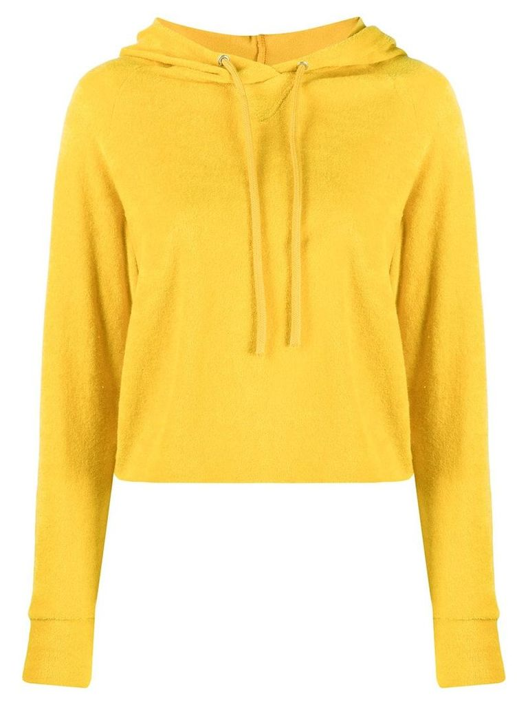 Majestic Filatures knitted hoodie - Yellow