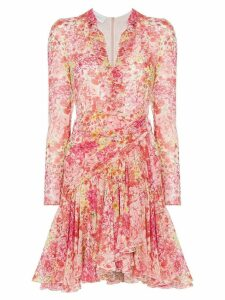 Giambattista Valli Rose print mini dress - Pink