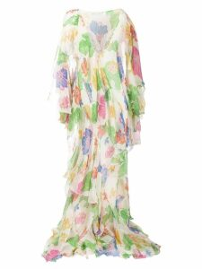 Etro floral draped dress - Neutrals