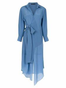 Magrella wrap style shirt dress dress - Blue