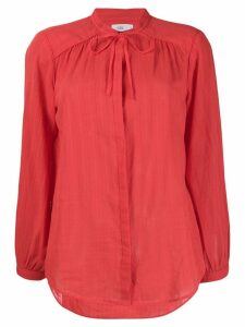 Closed long sleeve shirt - Red
