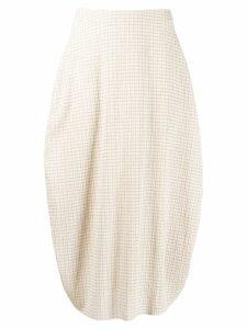Jil Sander tulip shape skirt - Neutrals