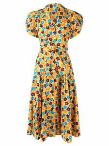 Lhd floral print midi dress - Yellow