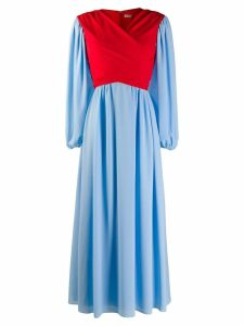 Emilia Wickstead flared wrap dress - Blue