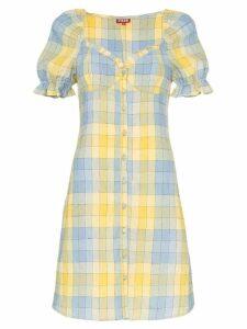 Staud check button front dress - Multicoloured
