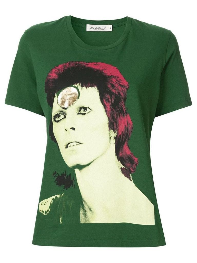 UNDERCOVER Bowie print T-shirt - Green