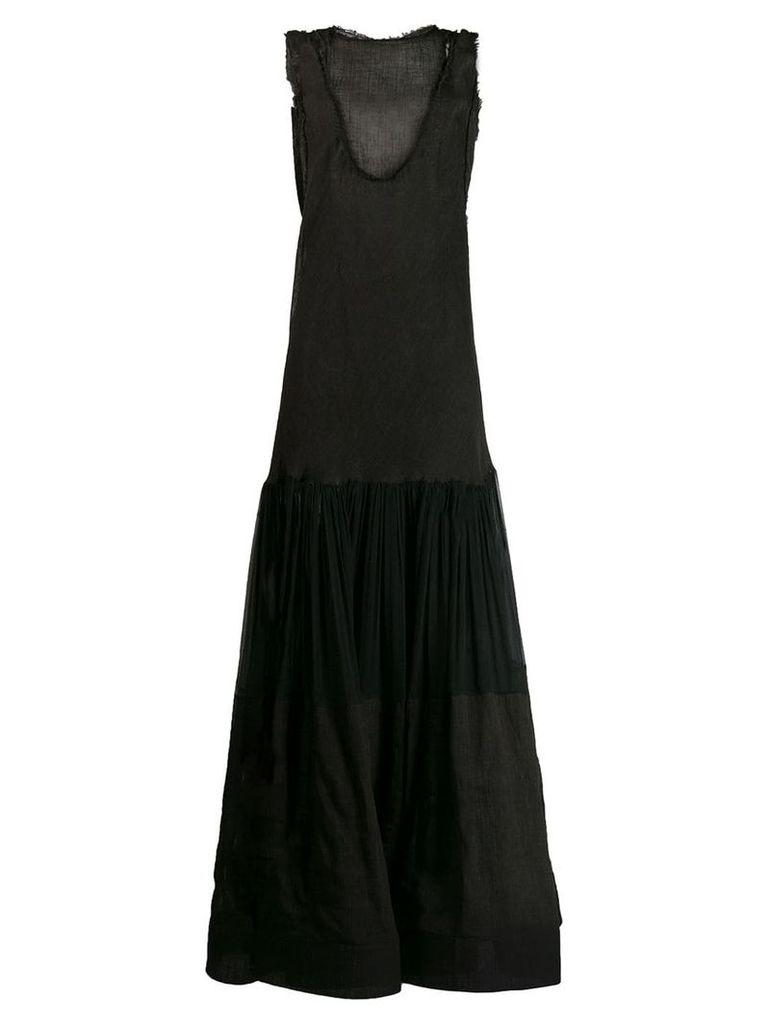 Alberta Ferretti sheer tank dress - Black