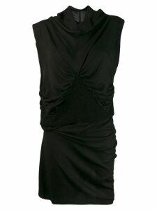 Ann Demeulemeester asymmetrical evening dress - Black