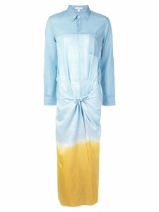 Tome long shirt dress with knot - Blue