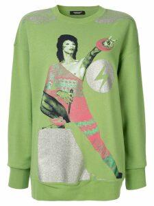 UNDERCOVER Bowie print sweatshirt - Green