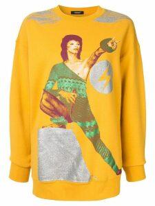 UNDERCOVER Bowie print sweatshirt - Yellow