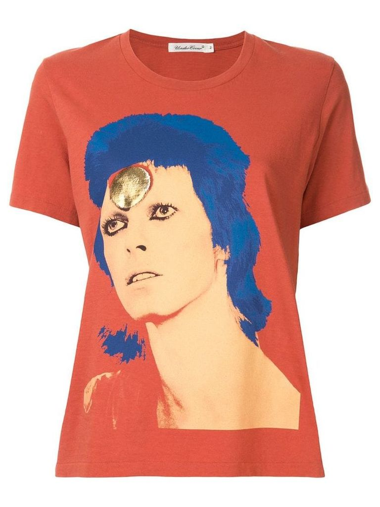 Undercover Bowie print T-shirt - Orange