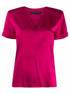 Federica Tosi short sleeved v-neck blouse - Pink