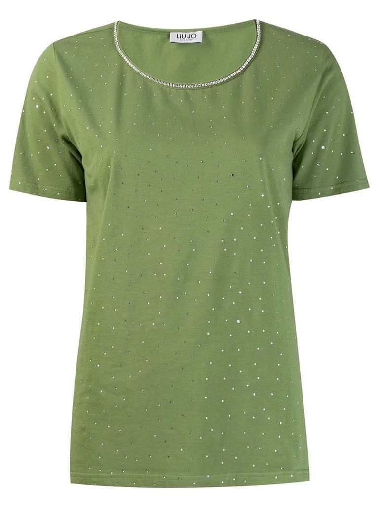 Liu Jo diamond sequin T-shirt - Green