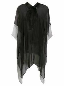 Haider Ackermann asymmetric sheer blouse - Black
