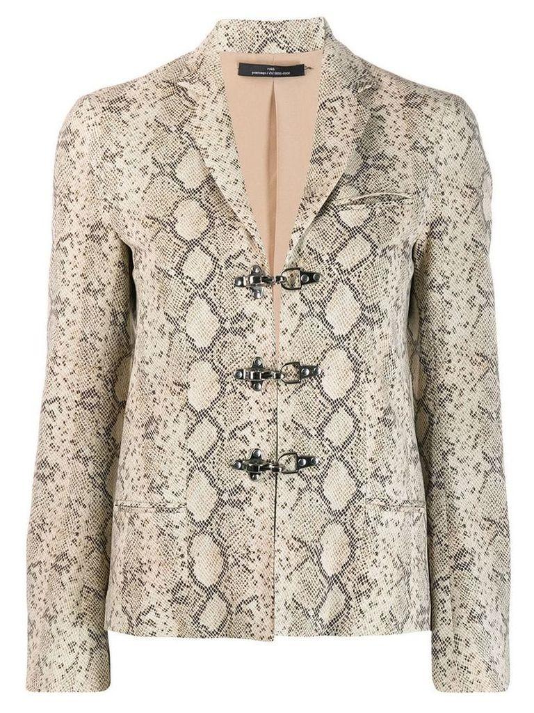 Rokh snake pattern blazer jacket - Neutrals